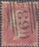 1857 1d Rose-red SG40 Plate 49 'HD'